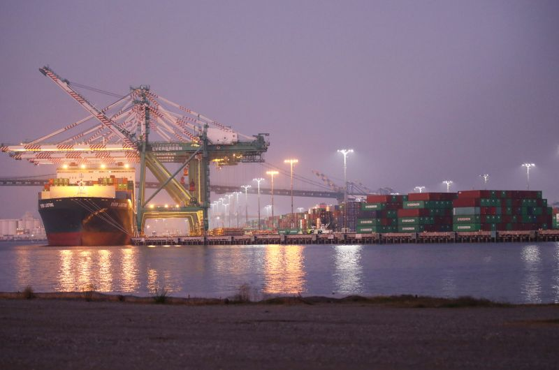 Shipping containers at the Port of Los Angeles