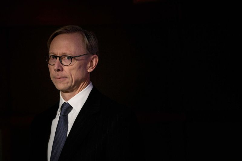 US Special Representative for Iran, Brian Hook, looks on during a briefing at the US Department of State in Washington, DC on January 17.