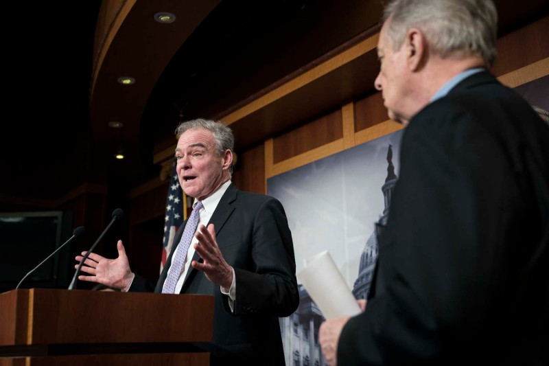 Senate Democrats discuss war powers resolution on Iran.