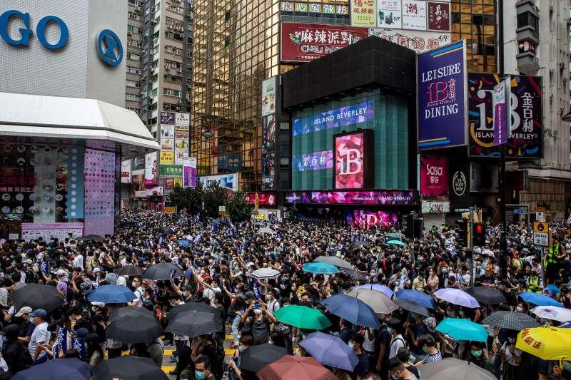 Protesters Causeway Bay Hong Kong