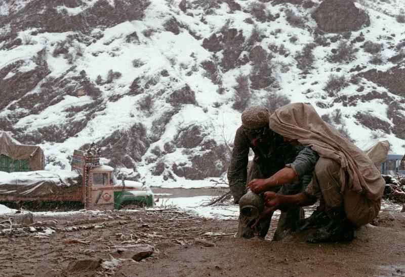 Two Afghan mujahideen in 1989