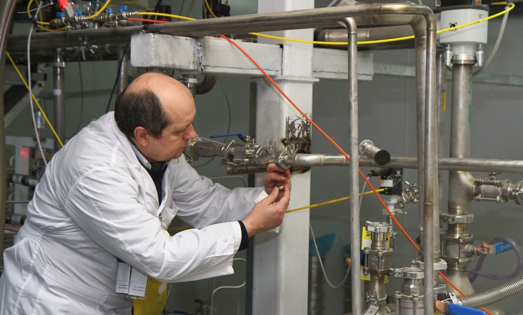 An International Atomic Energy Agency inspector visits the Natanz enrichment facility, south of Tehran, on Jan. 20, 2014.
