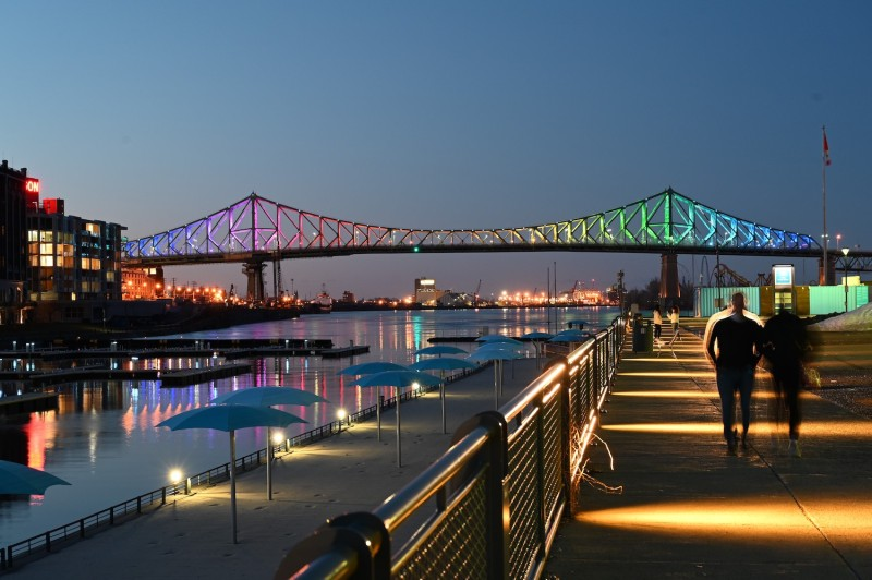 The Jacques-Cartier bridge in Montreal