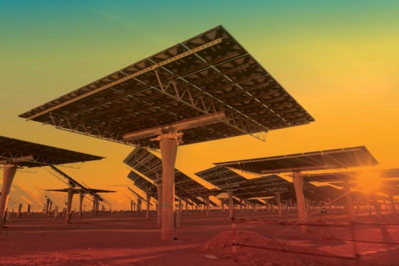 The Noor solar plant in 2018.