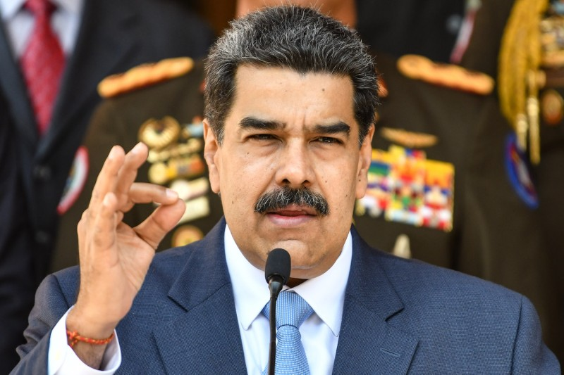 President Nicolás Maduro talks during a press conference at Miraflores Government Palace in Caracas, Venezuela, on March 12.