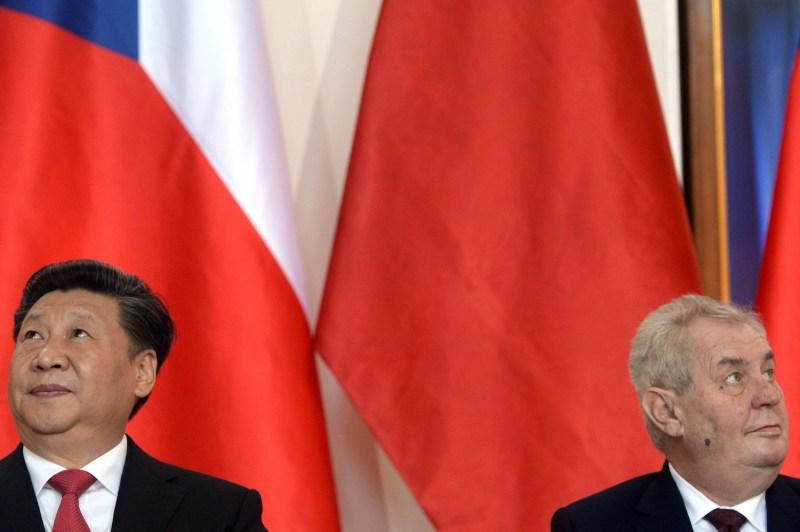 Milos Zeman and Xi Jinping