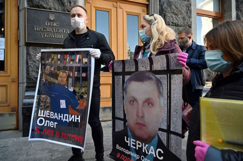Ukraine Prisoner Swap Protests