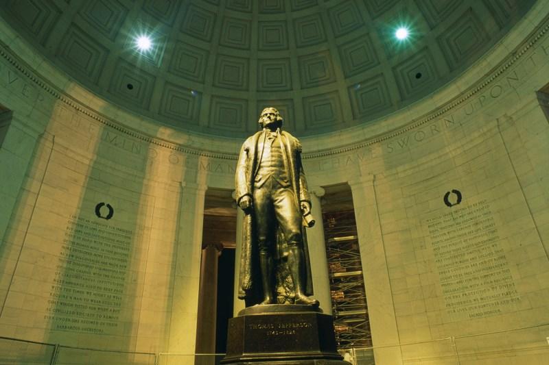 Thomas Jefferson's monument in Washington
