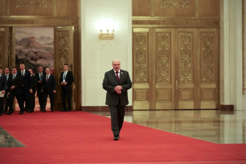 Belarus President Alexander Lukashenko in Beijing