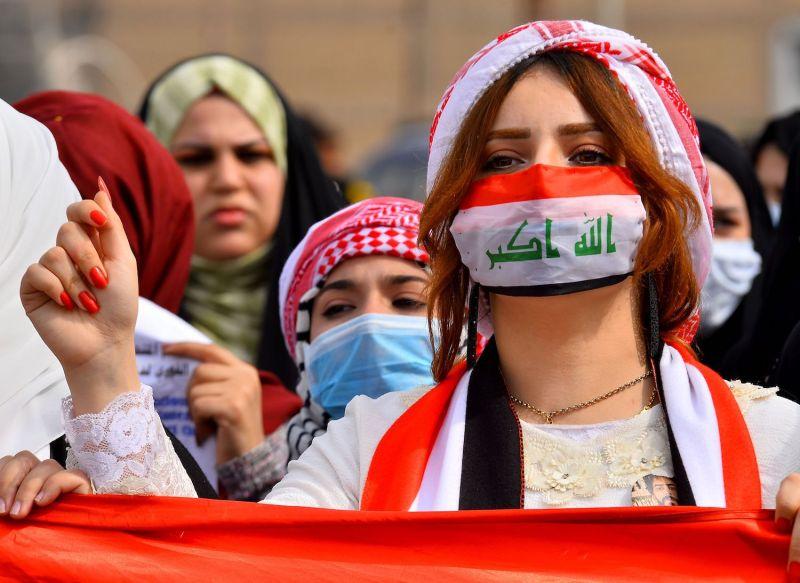 Anti-government protesters in Iraq