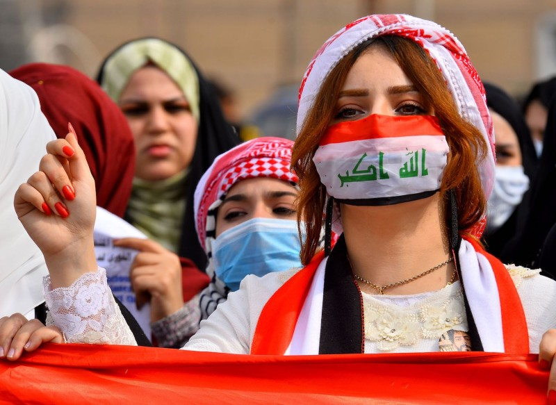 Anti-government protesters in Iraq