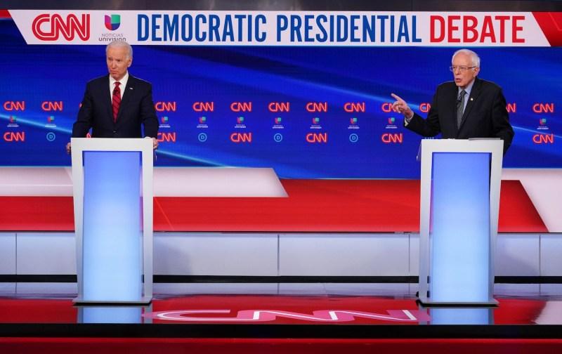 Former U.S. Vice President Joe Biden and Sen. Bernie Sanders