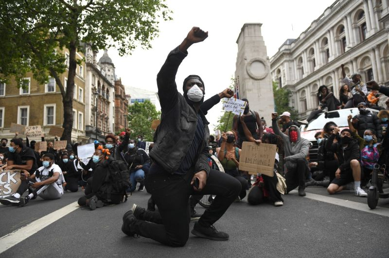 A Black Lives Matter protest in London