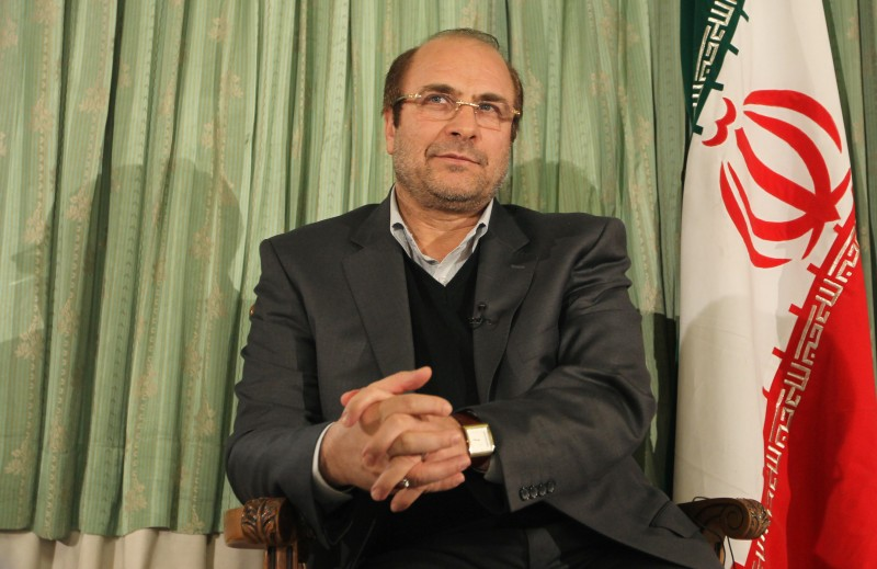 Mohammad Baqer Qalibaf is pictured during an interview with AFP in Tehran on Jan. 9, 2012.