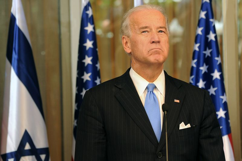 "U.S. Vice President Joe Biden listens during a joint statement to the press with Israeli Prime Minister Benjamin Netanyahu in Jerusalem on March 9, 2010. While Biden has taken critical stances on Israel in his 2020 presidential campaign, he has stressed: ""My commitment to Israel is absolutely unshakeable."""