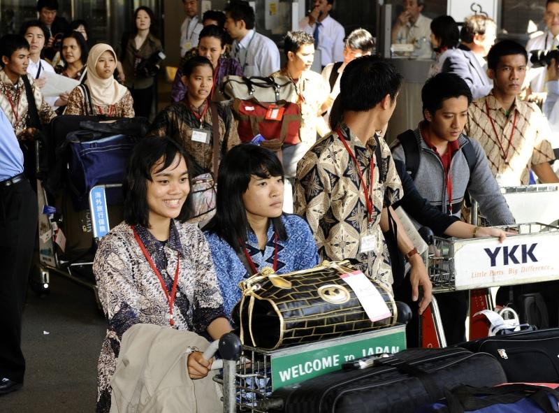 Indonesian Nurses Arrive in Tokyo
