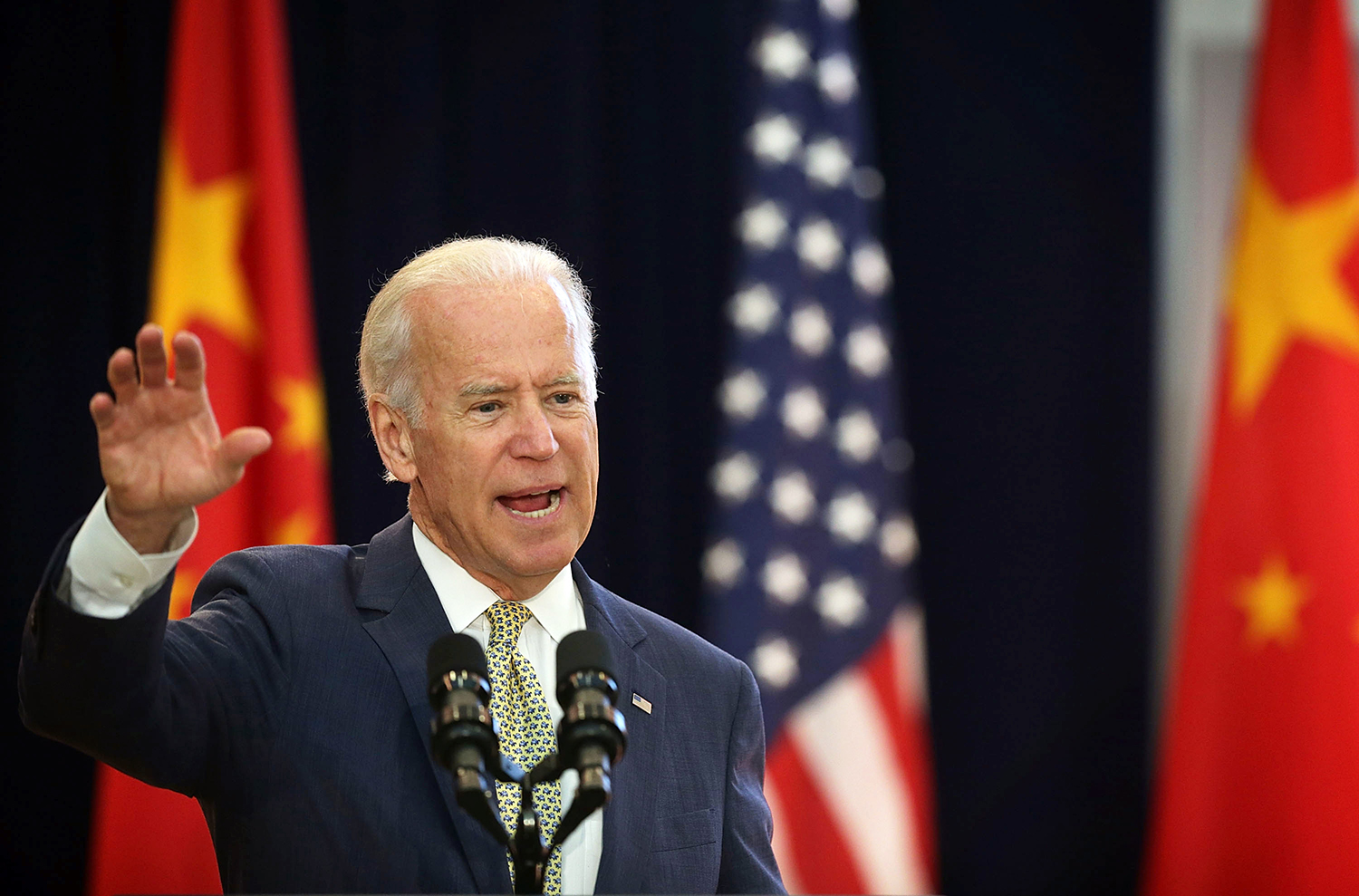 U.S. Vice President Joseph Biden delivers remarks during the joint opening session of the Strategic and Economic Dialogue with China in Washington, D.C., on June 23, 2015.