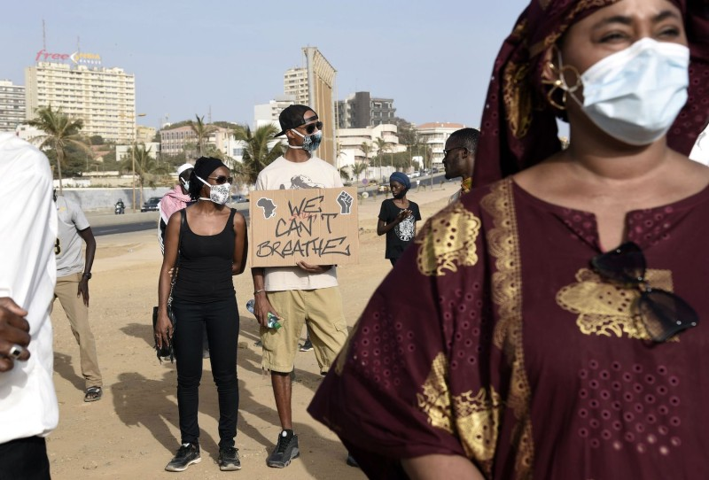 A rally takes place in Senegal..