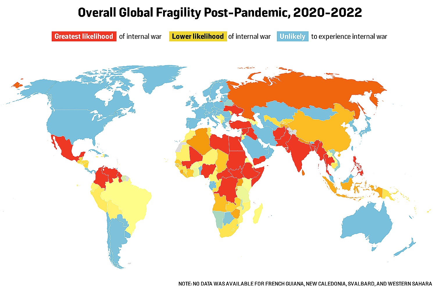 Overall Global Fragility Post-Pandemic, 2020-2022