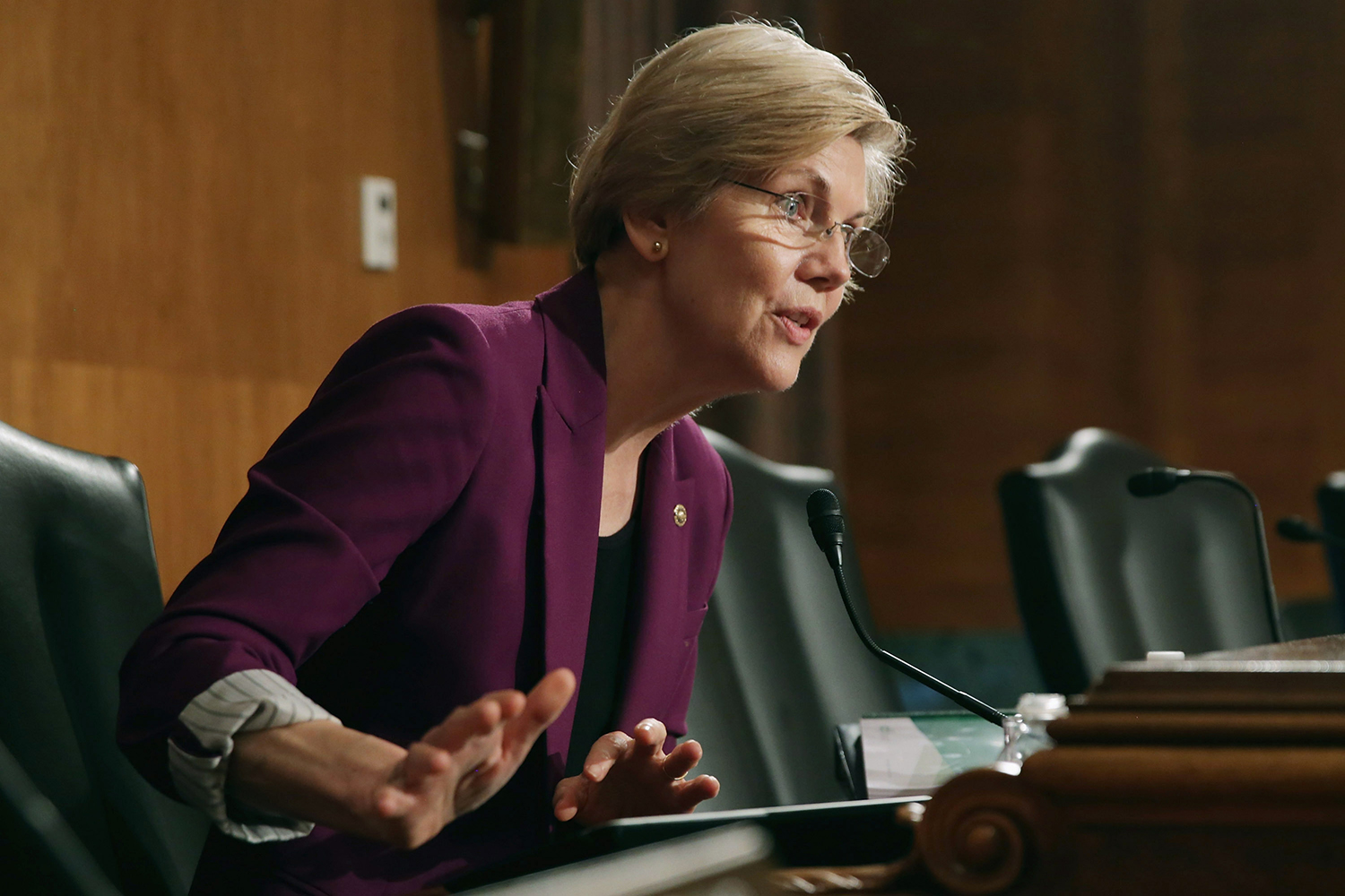 Sen. Elizabeth Warren questions Consumer Financial Protection Bureau Director Richard Cordray on Capitol Hill in Washington on June 10, 2014.