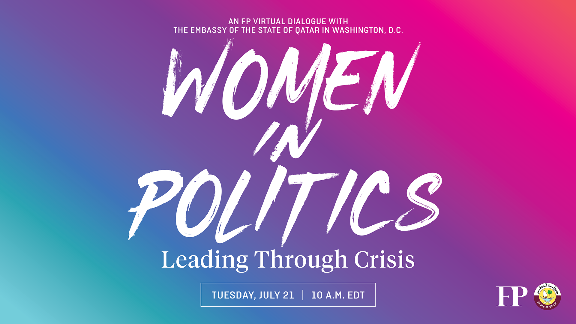 Join FP on July 21 for the start of our 2020 Her Power series elevating women's voices on the global stage.