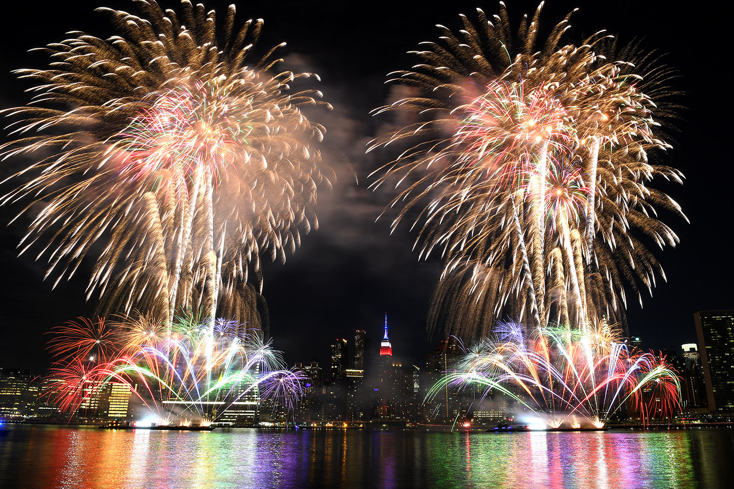 Fourth of July fireworks—spread out over several nights in New York City—light up the skyline June 29. Dimitrios Kambouris/Getty Images