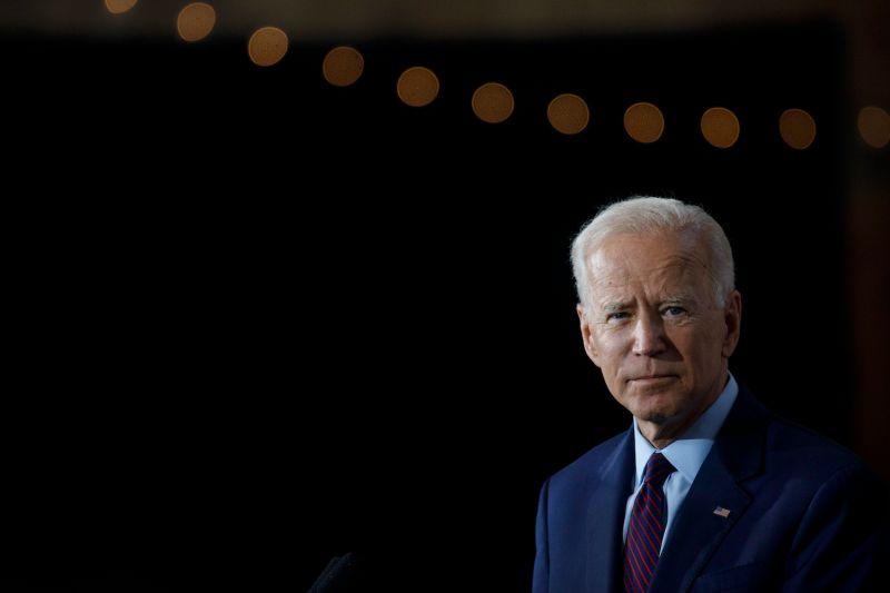 Former Vice President Joe Biden speaks in Iowa.