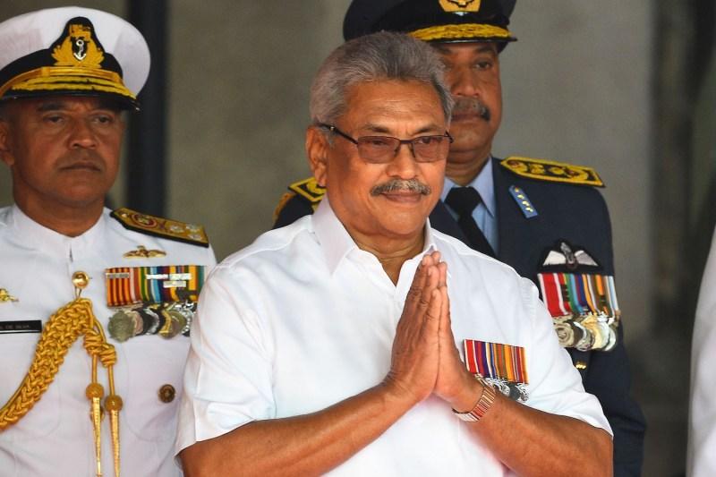 Sri Lanka's President Gotabaya Rajapaksa