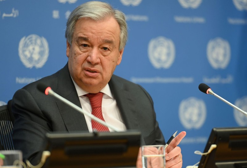 U.N. Secretary-General António Guterres speaks in New York.