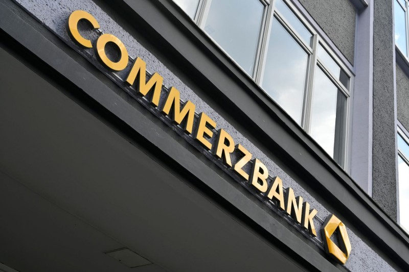 A branch of the German bank Commerzbank