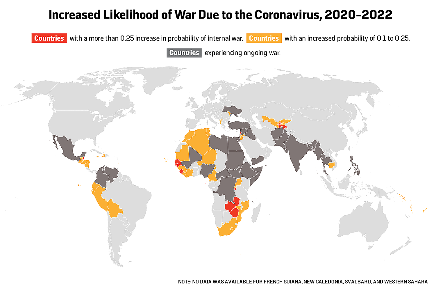 Increased Likelihood of War Due to the Coronavirus, 2020-2022
