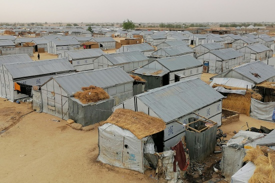The Bakassi internally displaced people's camp in Maiduguri, Nigeria, pictured on March 26, houses some of the 1.8 million people internally displaced across the country by the decadelong Boko Haram insurgency.