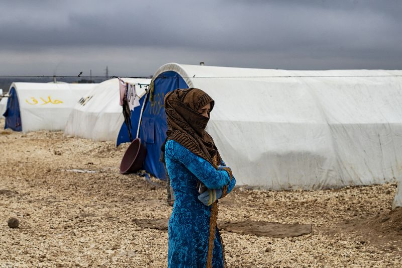 A displaced Syrian woman
