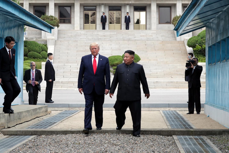 Trump Kim Jong Un US North Korea border.'