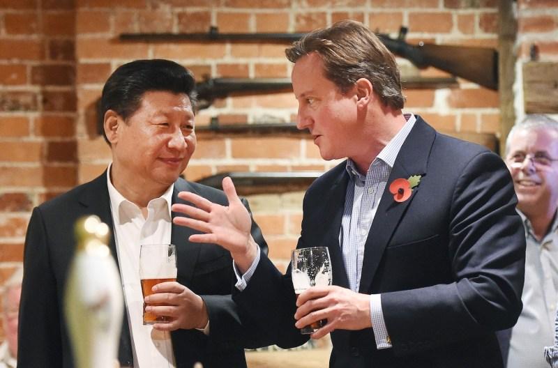 Cameron and Xi at the Pub