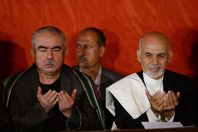 Former warlord and then-vice presidential candidate Abdul Rashid Dostum