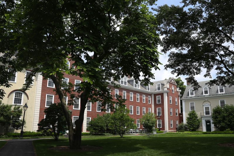 A view of the campus of Harvard Business School.