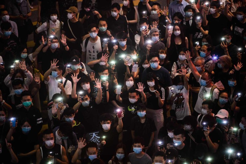 Hong Kongers Protest Chinese National Security Law