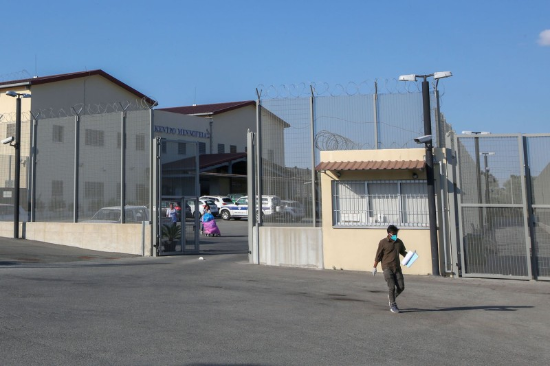 A man leaves the Menoyia immigration detention center near the town of Kofinou in Cyprus on May 29.