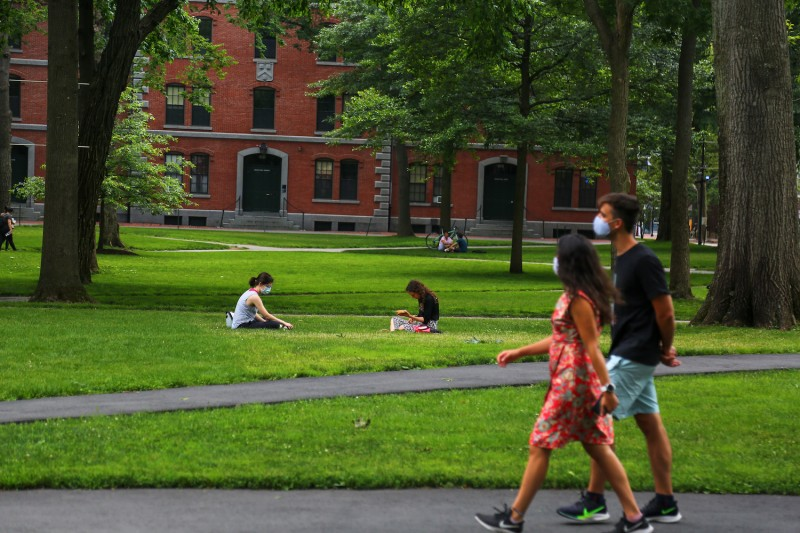 Students at Harvard University