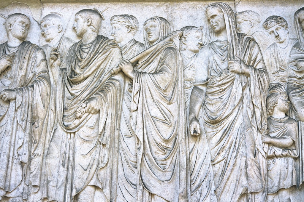 A frieze on an altar in Rome