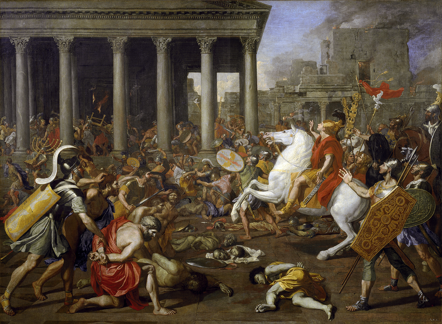 The Destruction of the Temples in Jerusalem by Titus by Nicolas Poussin (1594-1665).