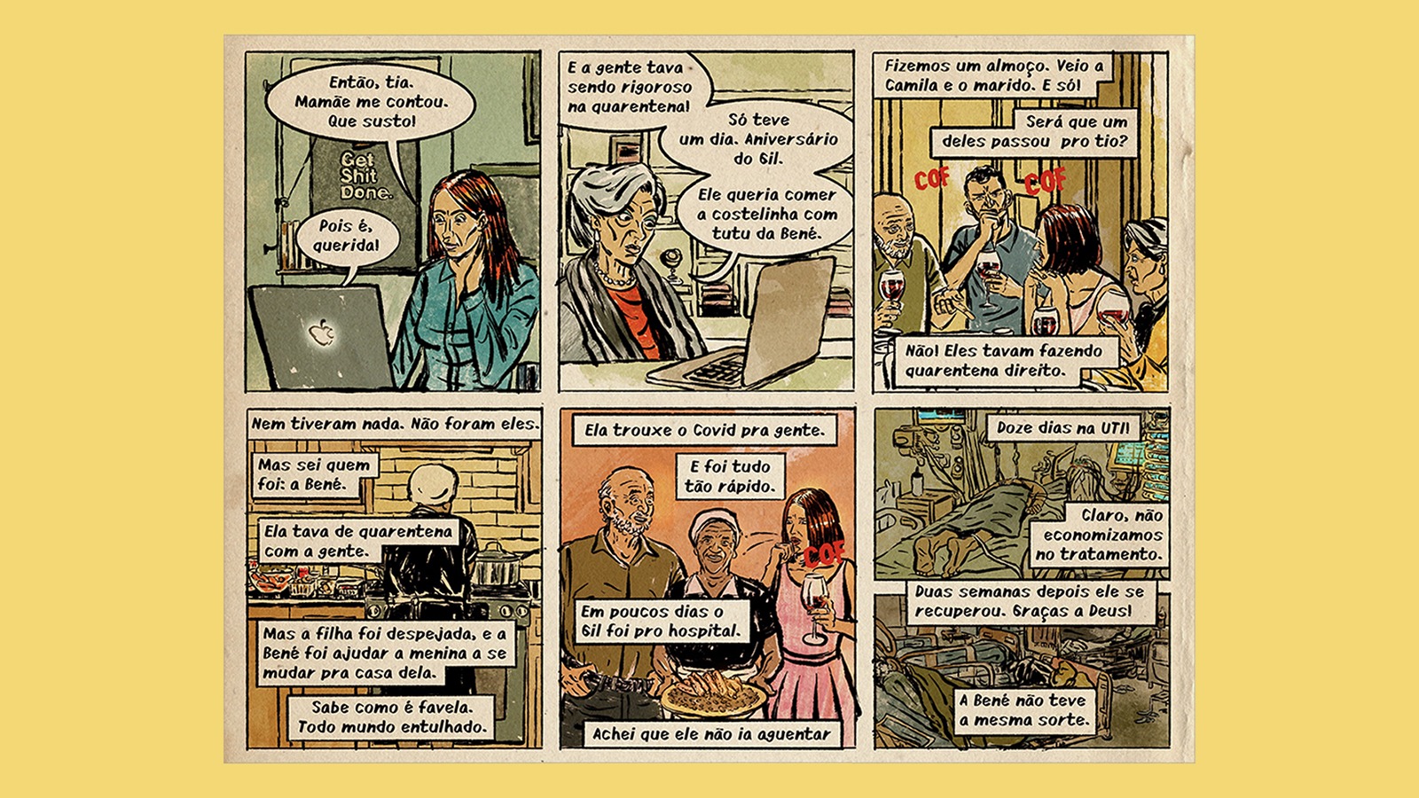 A New Comic Exposes Racism Amid the Pandemic in Brazil