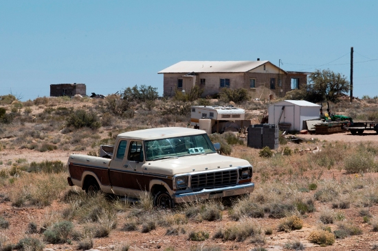 This Navajo house near the town of Steamboat, Arizona, pictured May 24, has no running water. An estimated 30 to 40 percent of Navajo sovereign territory's 178,000 residents don't have access to running water or sanitation.