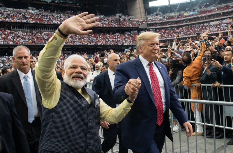 U.S. President Donald Trump and Indian Prime Minister Narendra Modi