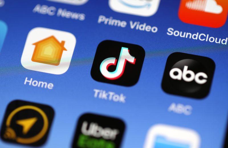 The TikTok app is displayed on an Apple iPhone on Nov. 1, 2019, in San Anselmo, California.