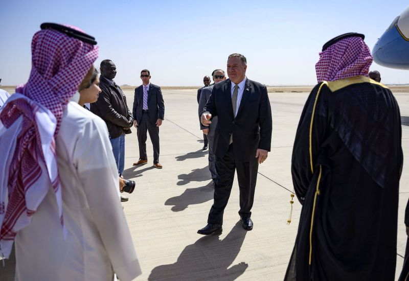 U.S. Secretary of State Mike Pompeo in Riyadh, Saudi Arabia.