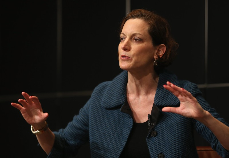 Anne Applebaum attends a discussion at the Bertelsmann building on Oct. 28, 2013 in Berlin, Germany.