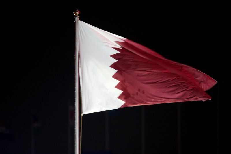 The Qatar flag seen at the Opening Ceremony of the 15th Asian Games at the Khalifa stadium in Doha on Dec. 1, 2006.