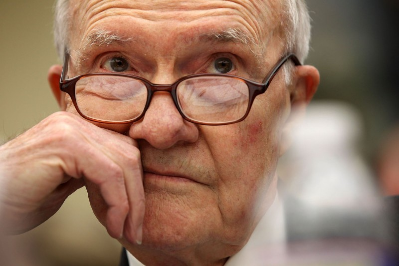 Brent Scowcroft testifies during a hearing before the House Committee on Science, Space, and Technology on Feb. 8, 2012.